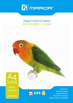 Mirror 210 Gloss A4 50 sheets Economy Pack